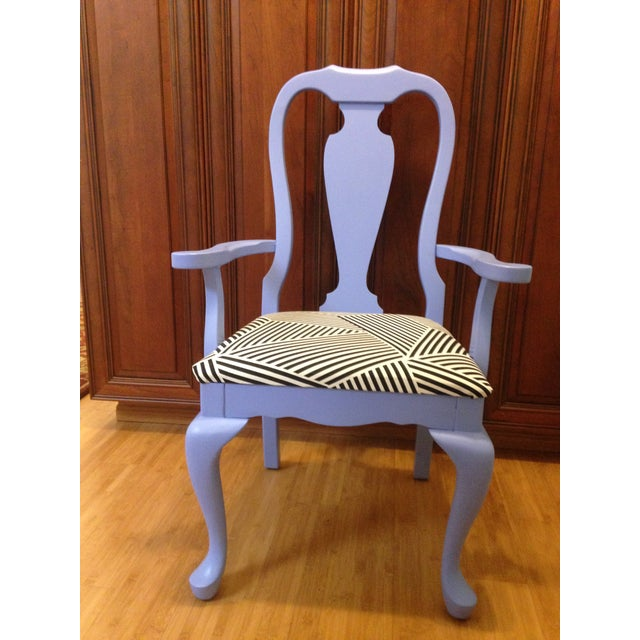 Lavender Painted Vintage Chair - Image 6 of 7