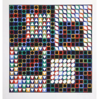 """1960s Victor Vasarely, """"Our Mc"""", Op Art Screenprint For Sale"""