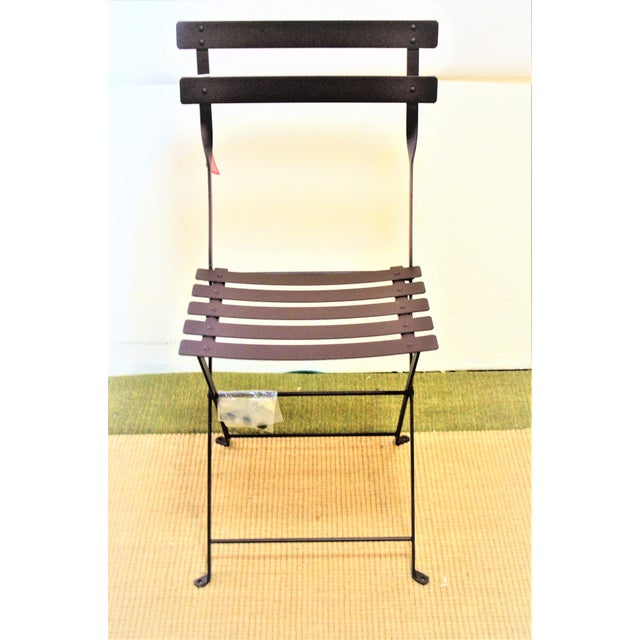 Metal Fermob Bistro Russet Brown Chair For Sale - Image 7 of 7