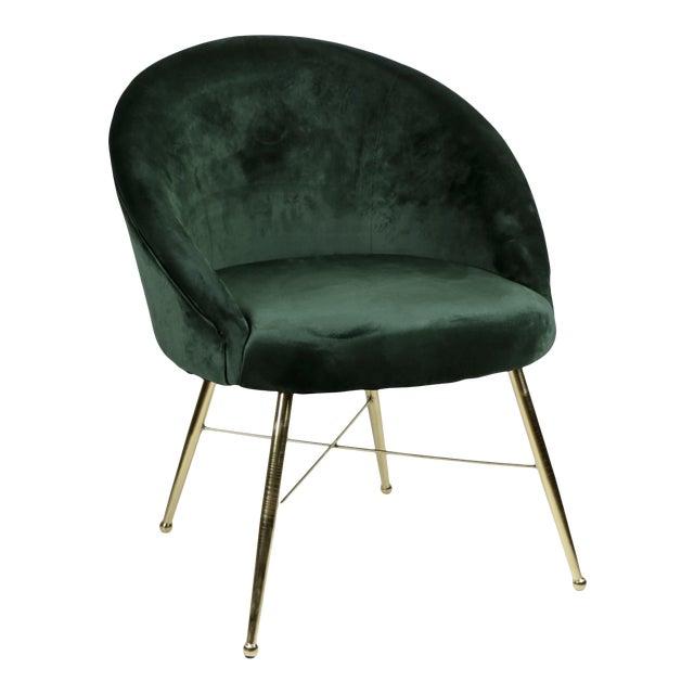 Emerald Velvet Chantilly Chair For Sale