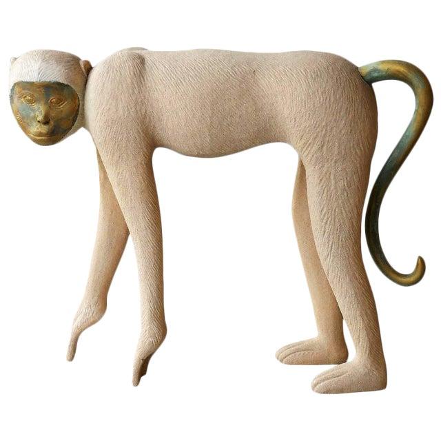 Large Modernist Monkey Sculpture, Manner of Lalanne - Image 1 of 6