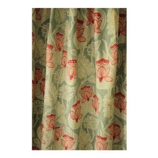 French Art Nouveau Cretonne Cotton Fabric For Sale