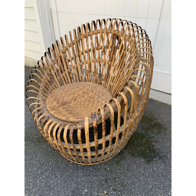 Bamboo Franco Abini Style Rattan Bamboo Chair For Sale - Image 7 of 13