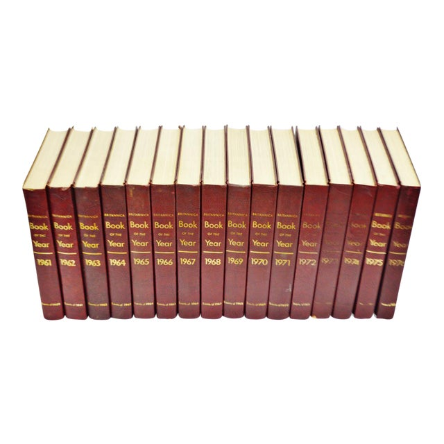 1961 - 1976 Britannica Book Of The Year Leather Bound Books - S/16 - Image 1 of 11