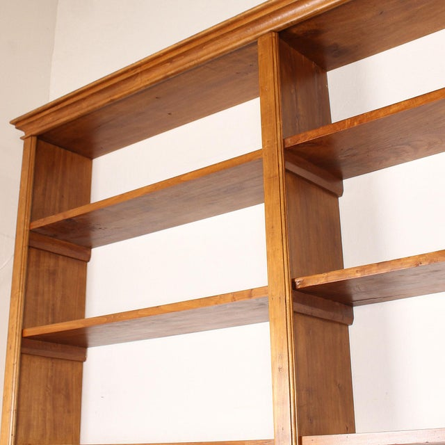 20th C. Large Italian Open Bookcase For Sale - Image 10 of 13