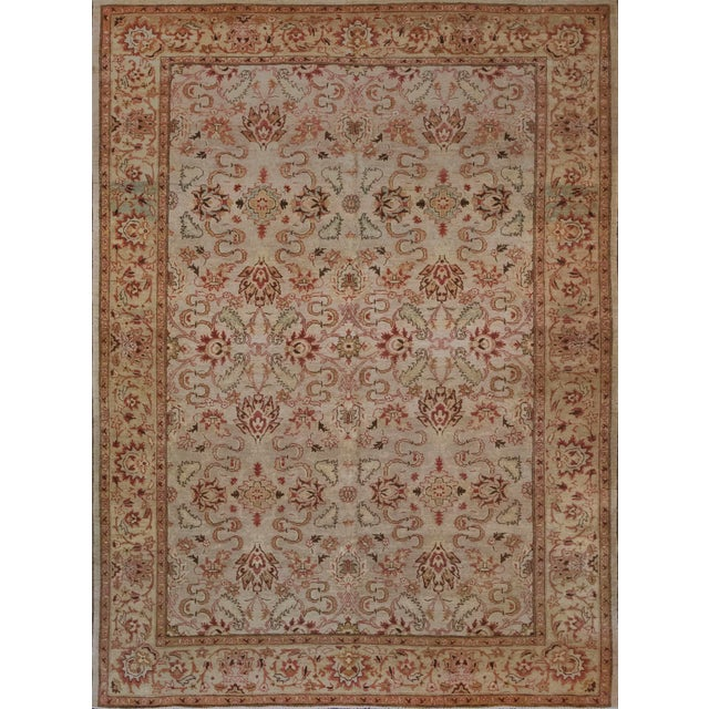 Handwoven Revival Agra Style Wool Rug For Sale - Image 13 of 13