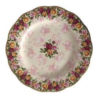 Royal Albert Bone China Rose Pattern Plate