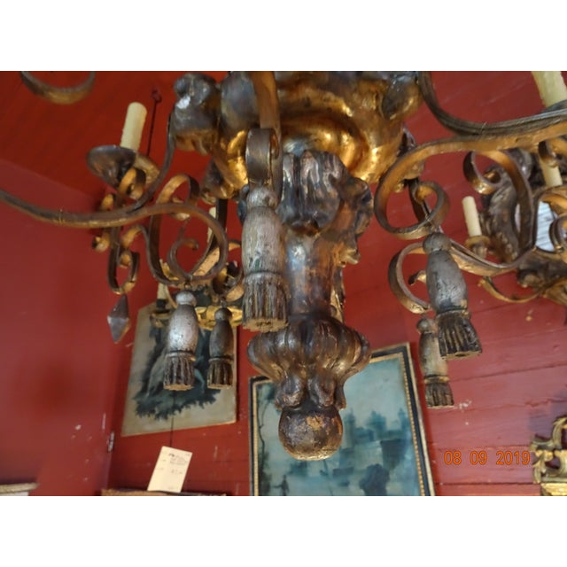 18th Century Italian Tassel Chandelier For Sale - Image 10 of 12