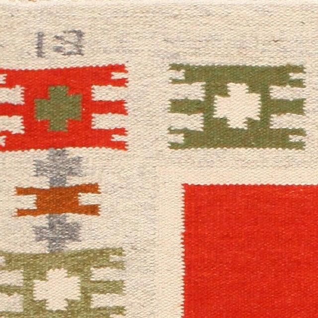 Vintage Scandinavian Carpet, Sweden, Mid-Twentieth Century - Here is a lovely vintage carpet - a delightful Scandinavian...