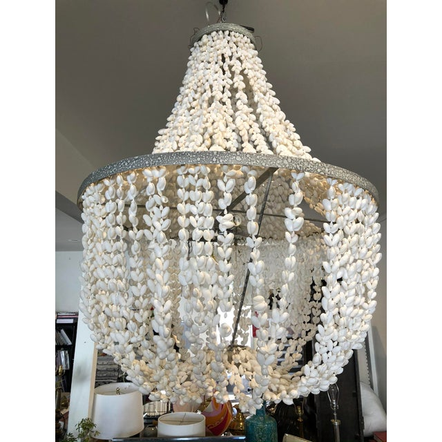 Made Goods Empire White Shell Chandelier For Sale In Los Angeles - Image 6 of 6