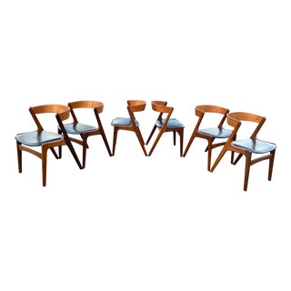 1950s Kai Kristiansen Fire Chairs for Sochu Andersen - Set of 6 For Sale