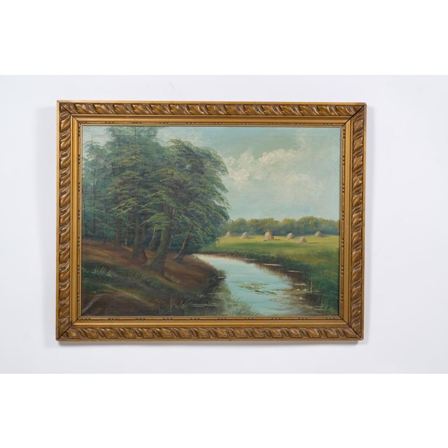 Mid-C. Landscape of a Creek Near a Pasture For Sale - Image 9 of 9