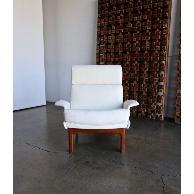 "Cream Ib Kofod-Larsen ""Adam"" Lounge Chairs for Mogens Kold Møbelfabrik Circa 1960 - a Pair For Sale - Image 8 of 13"