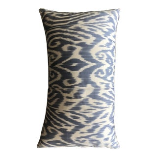 Light Blue Luce Ikat Pillow