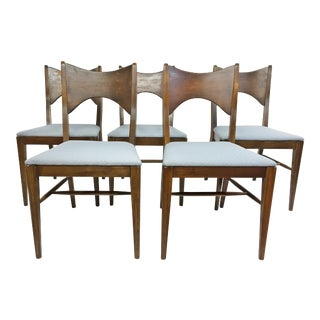 "Mid Century Modern Broyhill ""Saga"" Dining Chairs - Set of 5 For Sale"