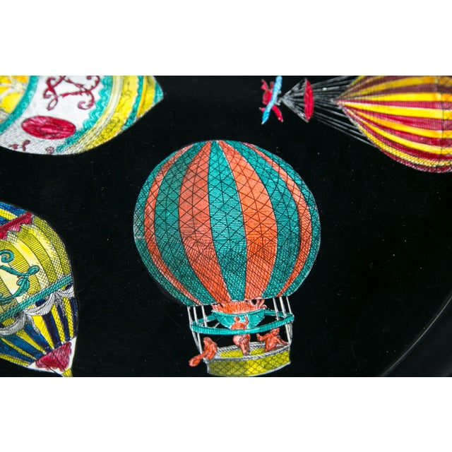 Black Piero Fornasetti Hot Air Balloon Tray For Sale - Image 8 of 8
