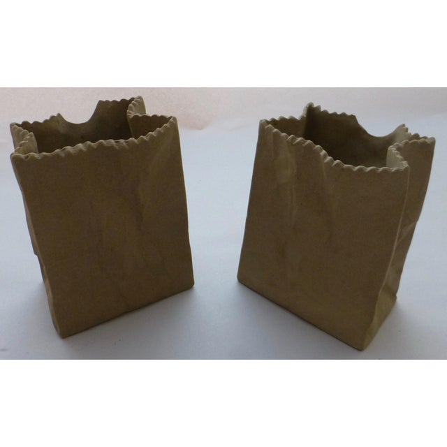 Tapio Wirkkala Rosenthal Paper Bag Vases- A Pair For Sale - Image 9 of 10