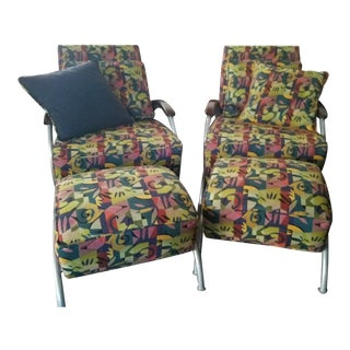 Milo Baughman for Thayer Coggin Limited Edition Chairs - a Pair For Sale