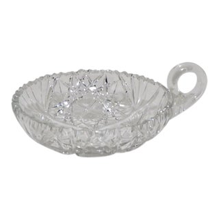 Late 19th Century Antique American Brilliant Cut Glass Lead Crystal Candy Dish For Sale