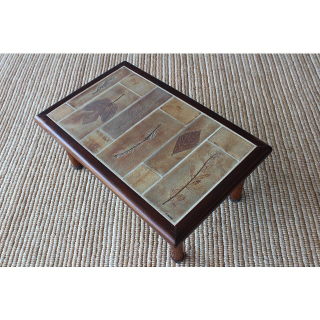 1960s French Cocktail Table With Roger Capron Tiles, 1960s For Sale - Image 5 of 10