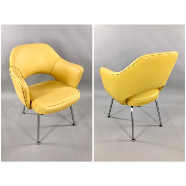 Original 1950's Vintage Eero Saarinen for Knoll Model 71 Executive Armchairs - a Pair - Image 4 of 11