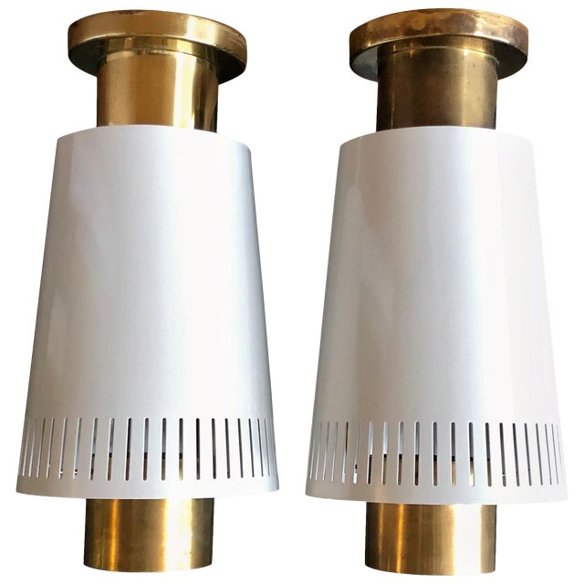 Pair of Ceiling Lights by Paavo Tynell For Sale