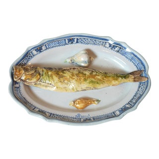 19th C. French Palissyware Platter For Sale