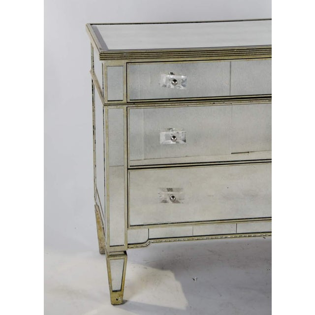 French 20th Century French 3-Drawer Mirrored Commode For Sale - Image 3 of 13