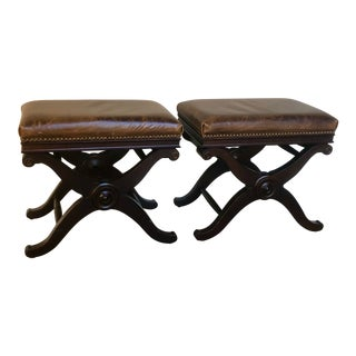 X Based Stools - a Pair For Sale