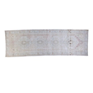 "Distressed Oushak Rug Runner - 3'2"" X 9'10"" For Sale"