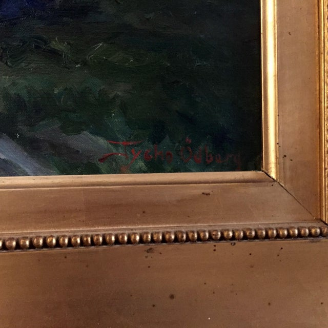 Blue 19th Century Swedish Painting by Bror Tycho Ödberg For Sale - Image 8 of 12