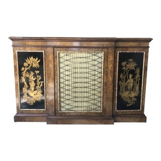 Late 19th Century English Chinoiserie Decorated Sideboard