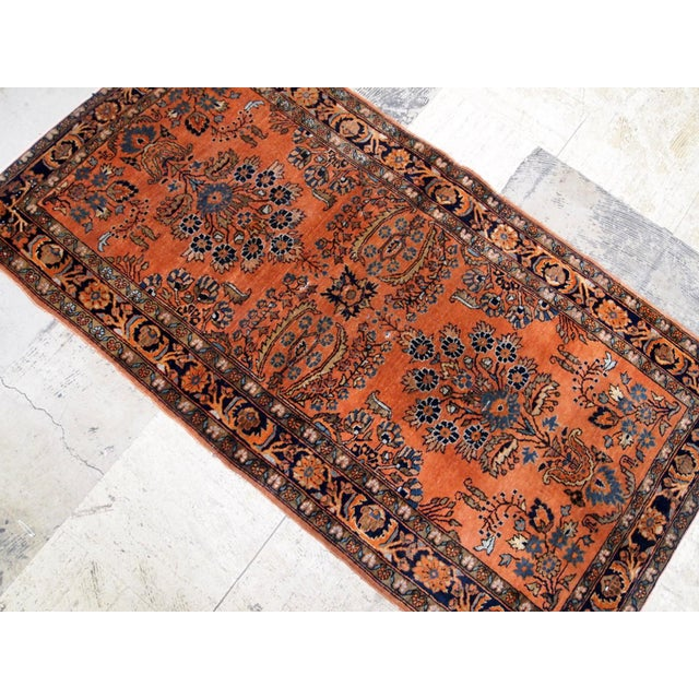 1920s Handmade Antique Persian Sarouk Rug 2.1' X 3.10' For Sale - Image 4 of 9