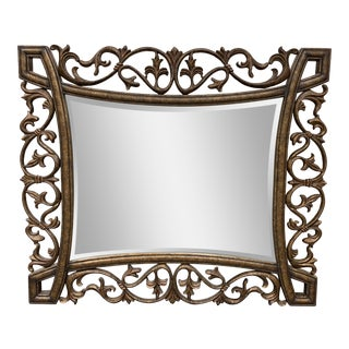 Tommy Bahama Metal + Wood Wall Mirror For Sale