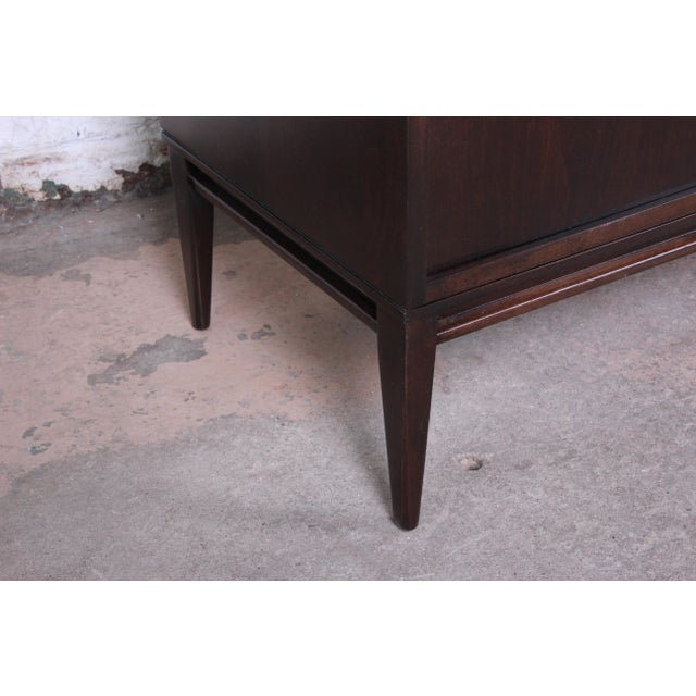 Paul McCobb Planner Group Sliding Door Sideboard Credenza or Record Cabinet For Sale - Image 10 of 13
