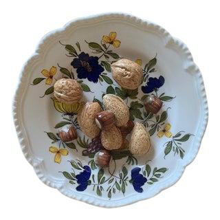 1970s Este Ceramiche Italy Trompe l'Oleil Plate For Sale