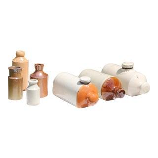 Antique English and Scottish Stoneware Bottles - Set of 7 For Sale