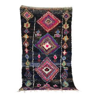 Vintage Boucherouite Moroccan Rug - 7' x 4'