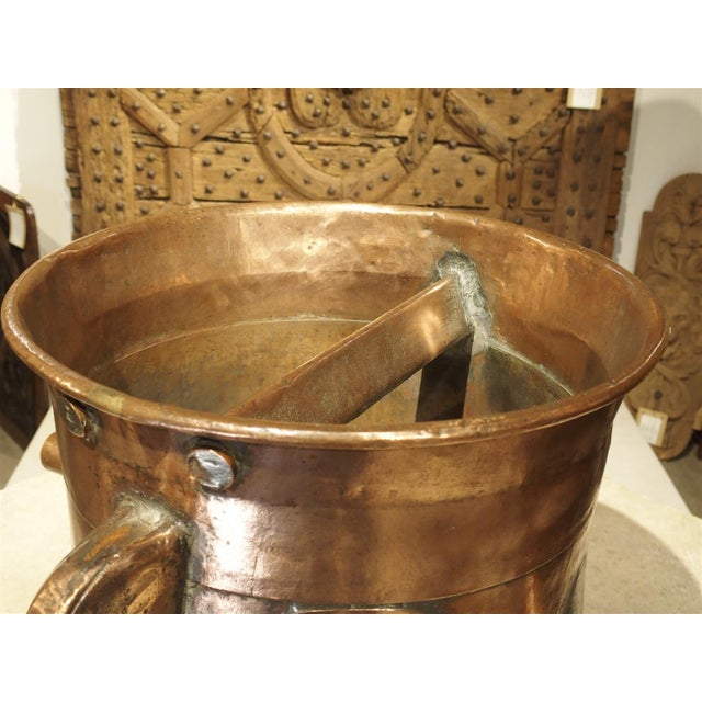 Copper Antique Copper 50 Liter Wine Vessel from Carcassonne France, Circa 1850 For Sale - Image 7 of 9