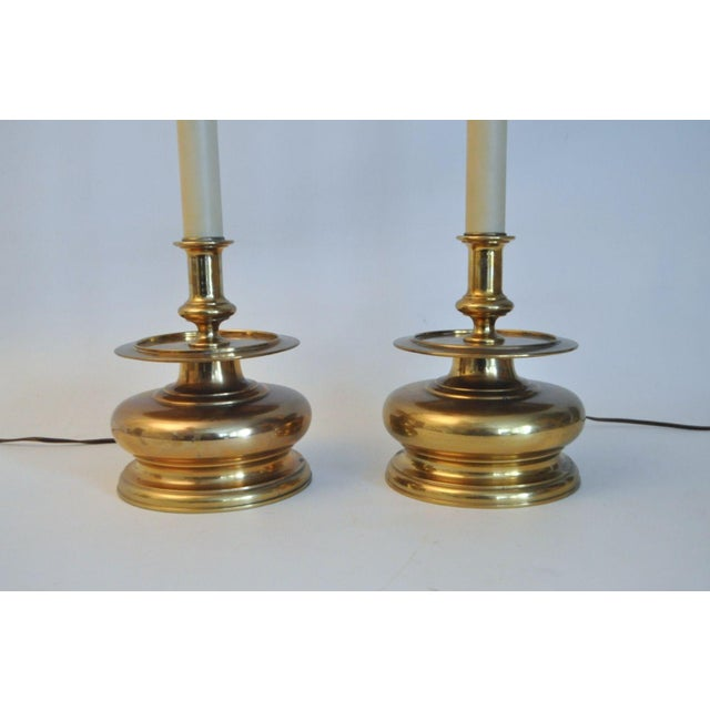 Vintage 1981 Chapman Spike Table Lamps - A Pair - Image 7 of 8