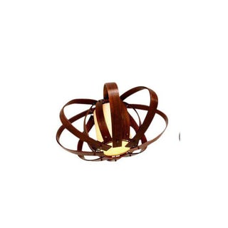 Sculptural Teak Bent Plywood Chandeliers Mid Century Modern For Sale