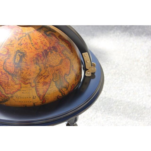 French Mid-Century Solid Mahogany World Globe Bar - Image 6 of 11