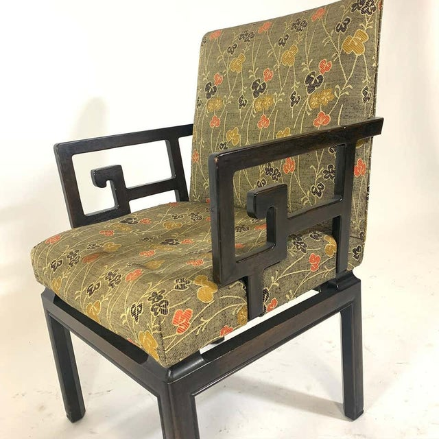 Pair of Greek Key Far East for Baker Chinoiserie Armchairs by Michael Taylor For Sale - Image 10 of 13
