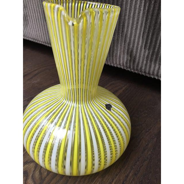 1970s Hollywood Regency Citron Fratelli Toso Murano Glass Latticino Filigrana Decanter For Sale In Chicago - Image 6 of 8
