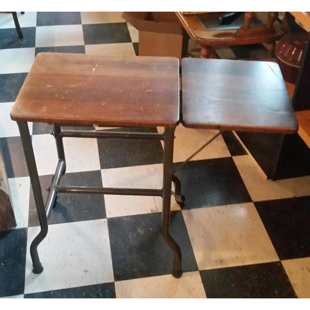 1960s Traditional Ideal Sherman-Manson Wood/Metal Typewriter Table For Sale In New York - Image 6 of 9