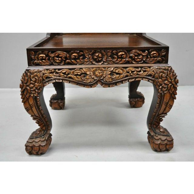 Late 20th Century Vintage Hand Carved Thai Oriental Teak ...