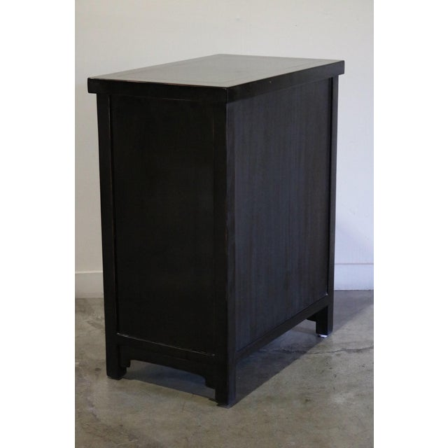 Late 20th Century Black Lacquer and Gilt Painted Cabinet For Sale - Image 4 of 11