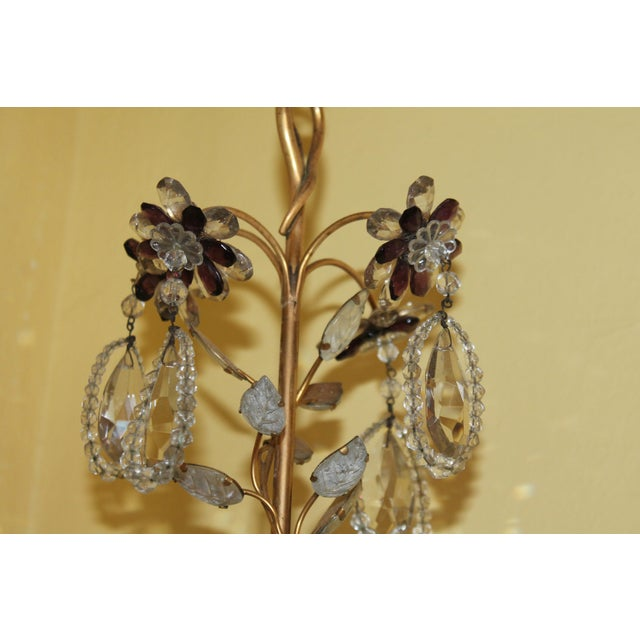 Bronze C1940s Hollywood Regency Maison Bagues Dore Bronze & Crystal Chandelier For Sale - Image 8 of 13