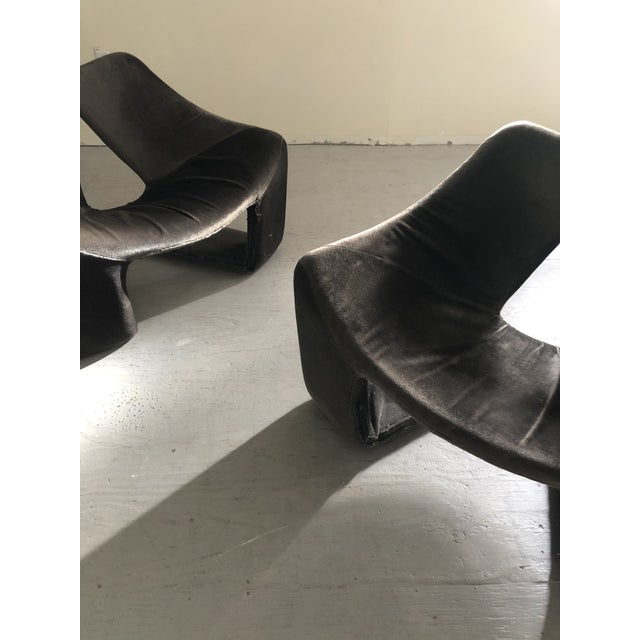 """1960s Vintage Space Age """"Zen"""" Lounge Chairs Designed by Kwok Hoi Chan for Steiner Paris For Sale In New York - Image 6 of 7"""