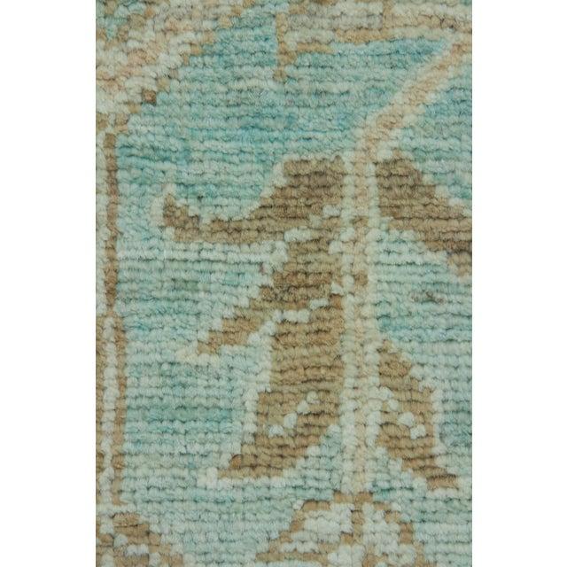 Traditional Green Oushak Runner Rug For Sale - Image 3 of 4